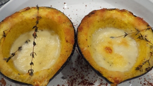 Acorn Squash with Creamy Parmesan Cheese