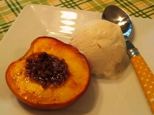Amaretti Stuffed Peach