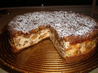 Italian Apple Crumb Cheesecake