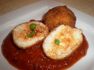 Arancini - Fried Stuffed Rice Balls