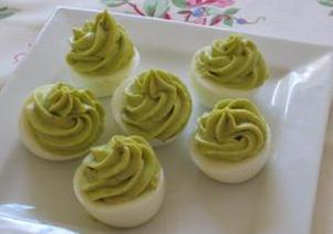Avocado Stuffed Eggs