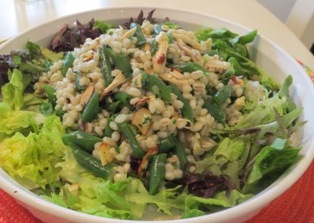 Barley, Chicken and Green Bean Salad