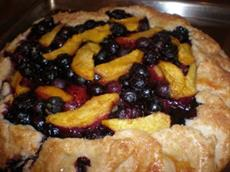 Blueberry and Peach Crostata