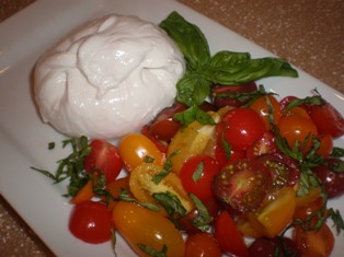 Burrata Cheese with Heirloom Tomatoes