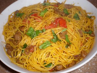 Pasta Chitarra with Lamb in Saffron Sauce