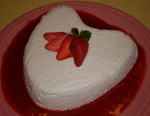Coeur a la Creme with Fresh Strawberries