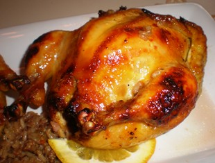 Cornish Hen with Sausage-Rice Stuffing