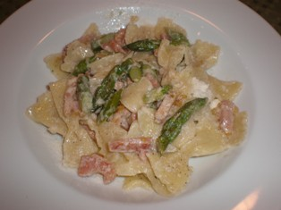 Strichetti Pasta with Asparagus and Prosciutto