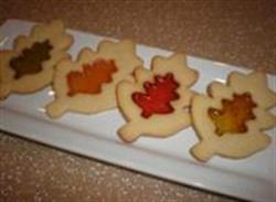 Stained glass cookies for autumn