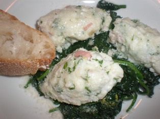 Gnocchi with Mortadella, Ricotta, and Spinach