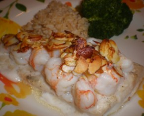 Grouper with Shrimp and Almonds