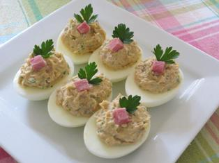 Deviled Ham Stuffed Eggs