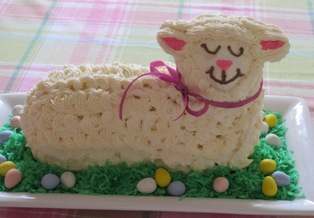Decorated Lamb Cake