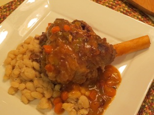Tuscan Lamb Shank over Cannellini Beans