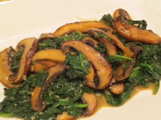 Sauteed Portabello Mushrooms and Spinach
