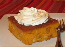 Pumpkin Pudding Cake from the Veneto region of Italy