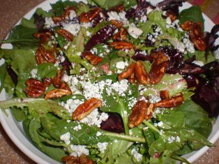 Roasted Beet Salad with Candied Walnuts