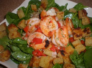 Shrimp Salad with Croutons